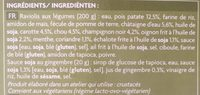 Raviolis vietnamiens aux légumes - Ingrédients - fr
