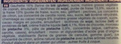 Cones fraise pistache - Ingredients