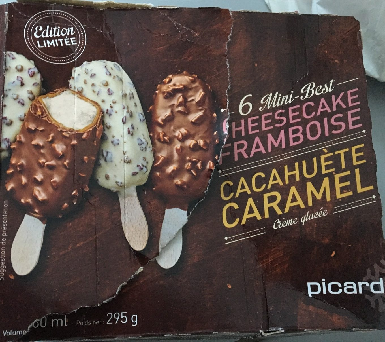 6 Mini-Best Cheesecake-Framboise et Cacahuète-Caramel - Product