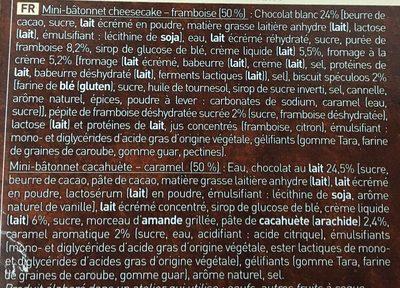 6 Mini-Best Cheesecake-Framboise et Cacahuète-Caramel - Ingredients