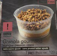 Granola gourmand Mangue-passion - coco - Produit