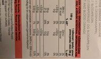 La tonique pamplemousse orange sanguine - Valori nutrizionali - fr