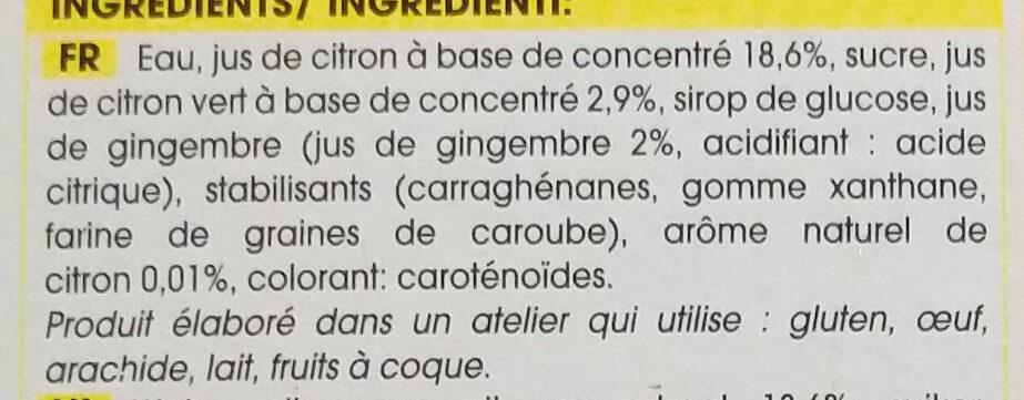 La rafraîchissante - Ingrédients - fr