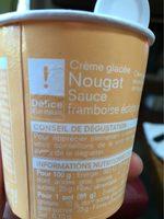 Creme nougart sauce framboise eclats de nougat - Produit - fr