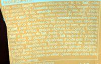 Creme nougart sauce framboise eclats de nougat - Ingrédients - fr