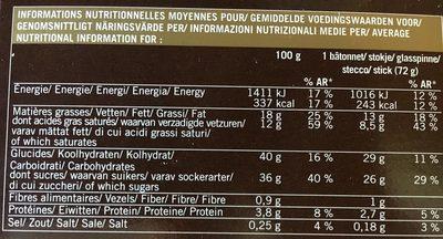 4 Best Vanille-Cookies-Chocolat - Nutrition facts