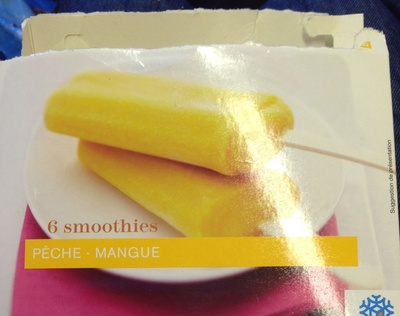 6 Smoothies Pêche - Mangue - Product - fr