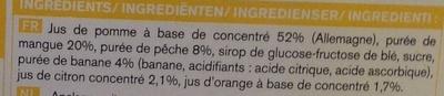 6 Smoothies Pêche - Mangue - Ingrediënten - fr