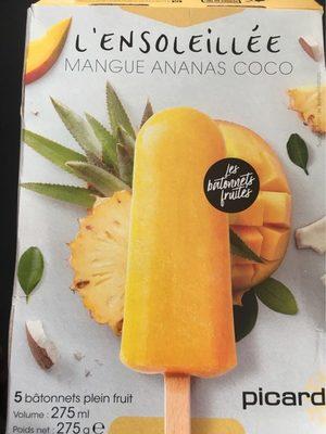 L'ensoleillé - bâtonnet fruité (mangue ananas coco) - Product