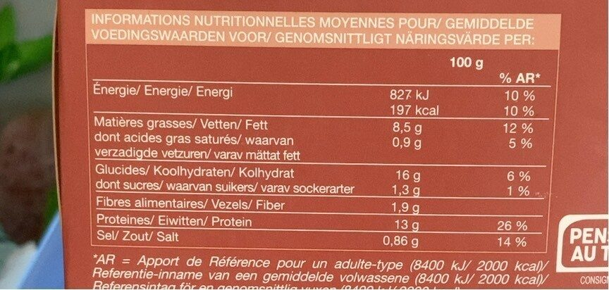 Aiguillettes de Merlu Blanc du Cap - Voedingswaarden - fr