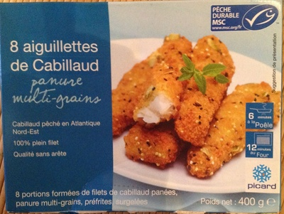 8 aiguillettes de Cabillaud panure multi-grains - Product