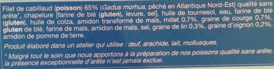 8 aiguillettes de Cabillaud panure multi-grains - Ingredients