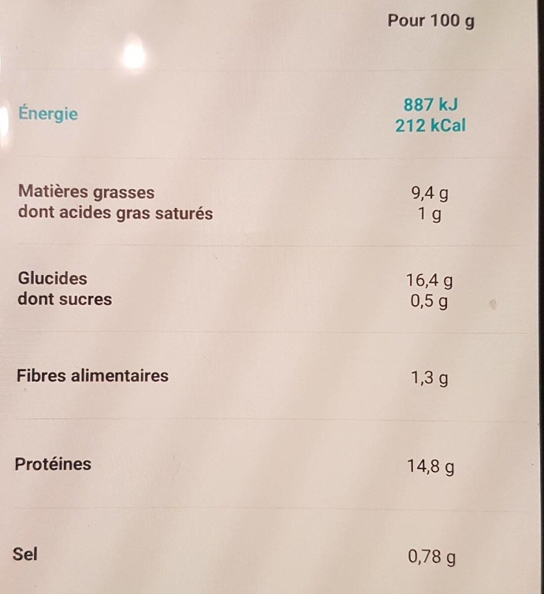 8 aiguillettes de Cabillaud panure multi-grains - Voedingswaarden - fr