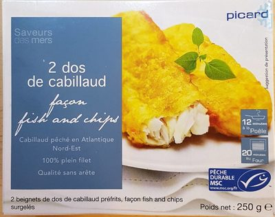 2 dos de cabillaud façon fish and chips - Product