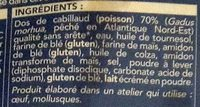 2 dos de cabillaud façon fish and chips - Ingredients