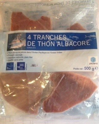 4 tranches de thon albacore - Product - fr