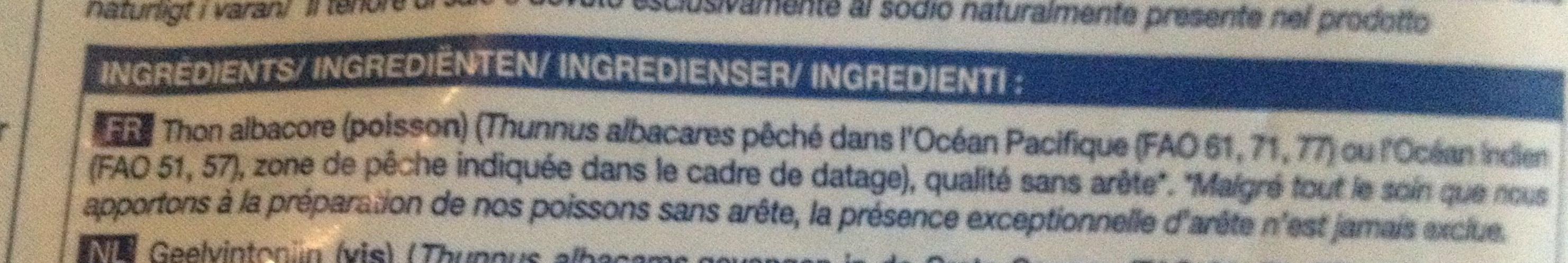 4 tranches de thon albacore - Ingrediënten - fr