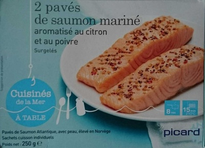 2 pavés de saumon mariné aromatisé au citron et au poivre - Product