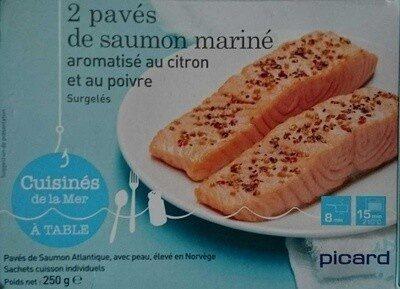 2 pavés de saumon mariné aromatisé au citron et au poivre - Prodotto - fr