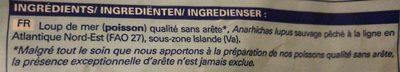 Pavés de loup de mer - Ingredients - fr
