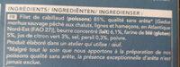 Filets de cabillaud meunière - Ingredienti - fr