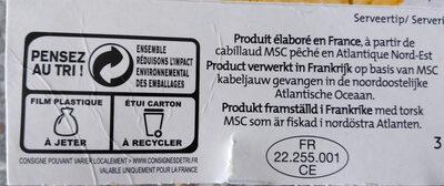 Filets de cabillaud meunière - Istruzioni per il riciclaggio e/o informazioni sull'imballaggio - fr
