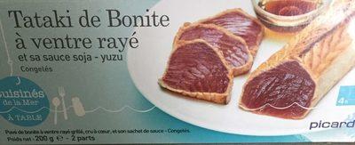Tataki de Bonite à Ventre Rayé et Sauce Soja - Produit