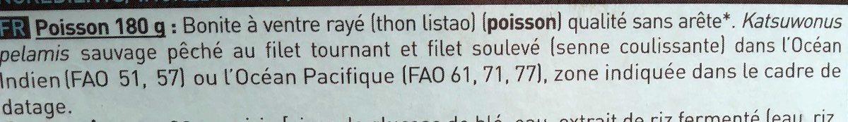 Tataki de Bonite à Ventre Rayé et Sauce Soja - Ingrédients - fr