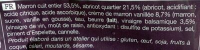 Poelee Marron Abricot - Ingrédients - fr
