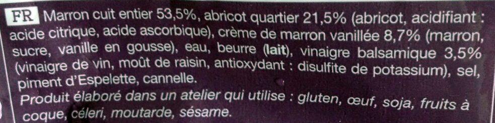 Poelee Marron Abricot - Ingrediënten - fr