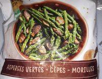 Asperges vertes cèpes - morilles - Product - fr