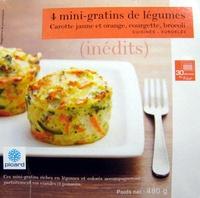 4 mini-gratins de légumes Carotte jaune et rouge, courgette, brocoli - Produit