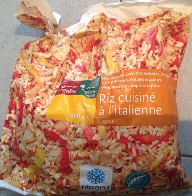 riz cuisiné à l'italienne surgelé - picard - 600 g