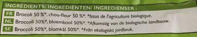 Duo de fleurettes brocolis, chou-fleur Bio Picard - Ingrediënten
