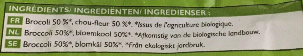 Duo de fleurettes brocolis, chou-fleur Bio - Ingredientes - fr