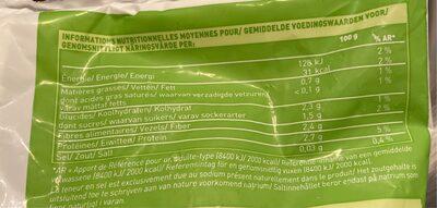 Duo de fleurettes brocolis, chou-fleur Bio - Información nutricional - fr