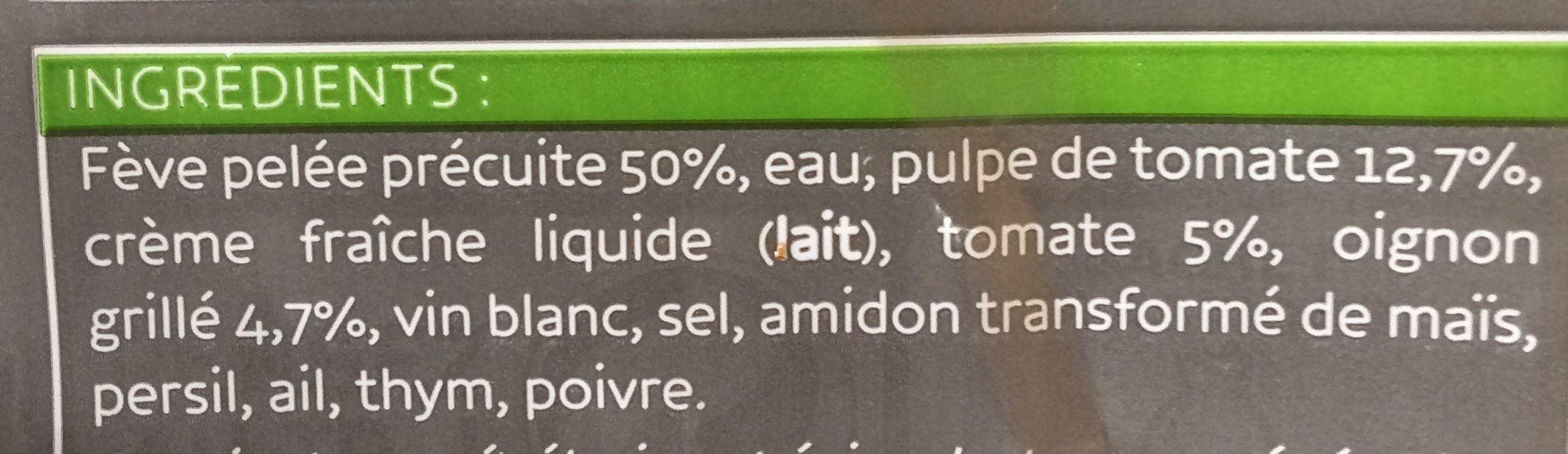 Fèves Pelées à la Provençale - Ingrédients