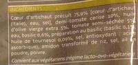 Coeurs d'artichaut à l'italienne, surgelés - Ingrédients - fr
