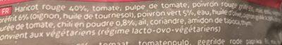 Légumes à la mexicaine - Ingrédients - fr