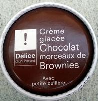 Crème glacée Chocolat morceaux de Brownies - Product - fr