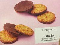 Sablés caramel-noisette au chocolat au lait - Produit - fr