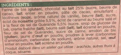 Sablés caramel-noisette au chocolat au lait - Ingrédients - fr