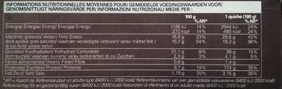 2 Quiches Lorraines - Voedingswaarden - fr