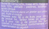 Confiture Fraise-Fraise des Bois - Ingrédients