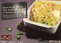 Gratin de Pâtes aux Saint-Jacques* et Fondue de Poireaux, Surgelé - Product