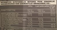 Gratin de Pâtes aux Saint-Jacques* et Fondue de Poireaux, Surgelé - Nutrition facts