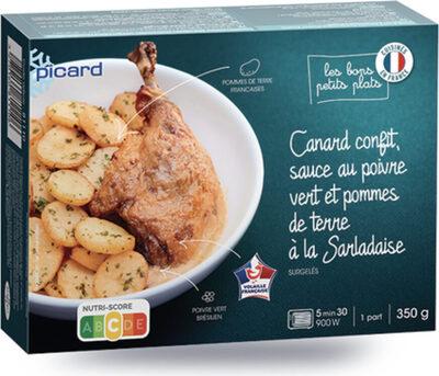 Canard confit, sauce au poivre vert et pommes de terre à la Sarladaise - Product - fr