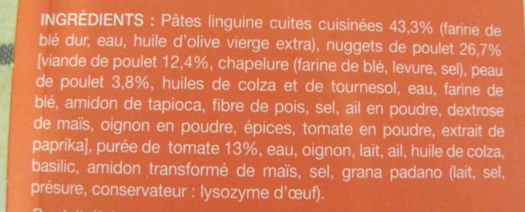 Nuggets de poulet et linguine, sauce tomate, Surgelés - Ingrédients