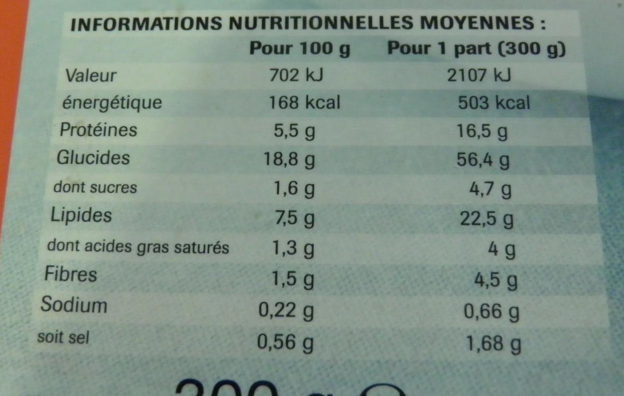 Nuggets de poulet et linguine, sauce tomate, Surgelés - Informations nutritionnelles