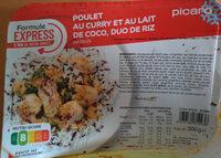 poulet au curry et au lait de coco, duo de riz - Prodotto - fr